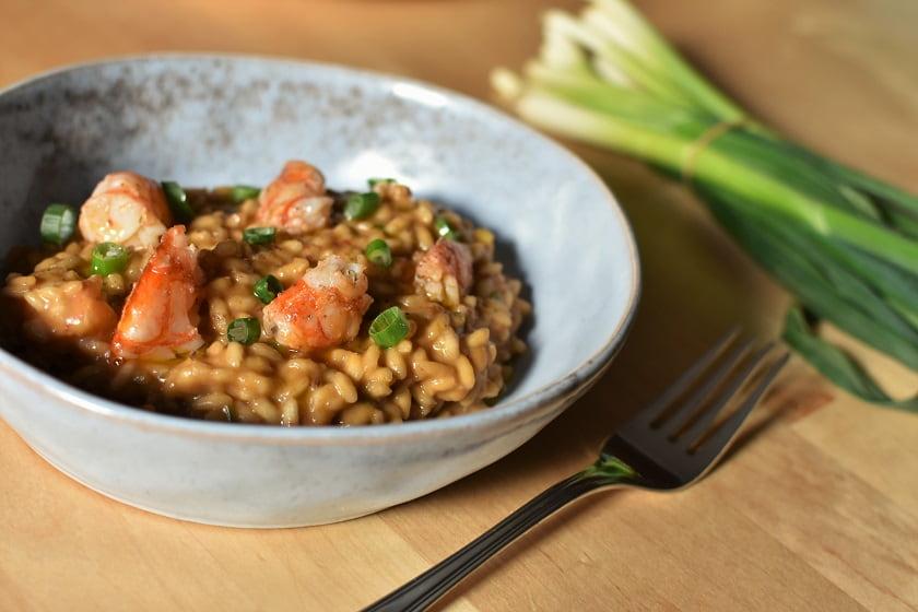 arroz meloso de gambones