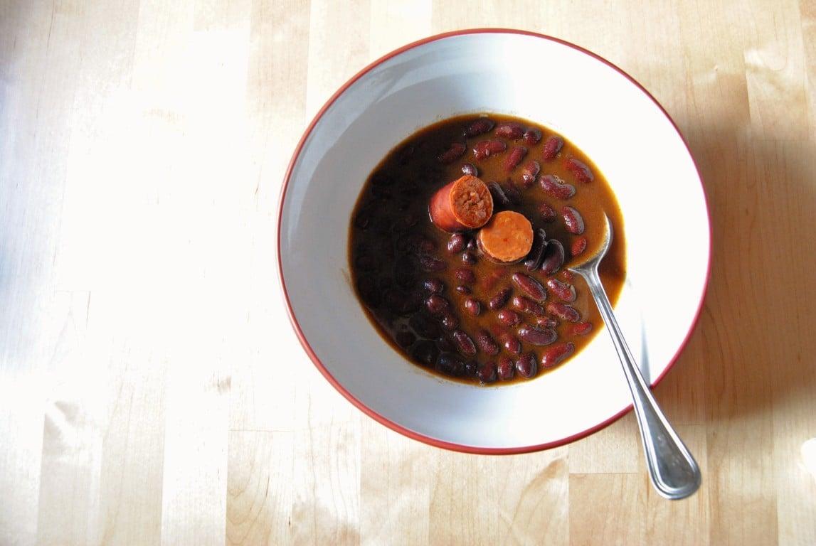 Alubias rojas con chorizo y verduras