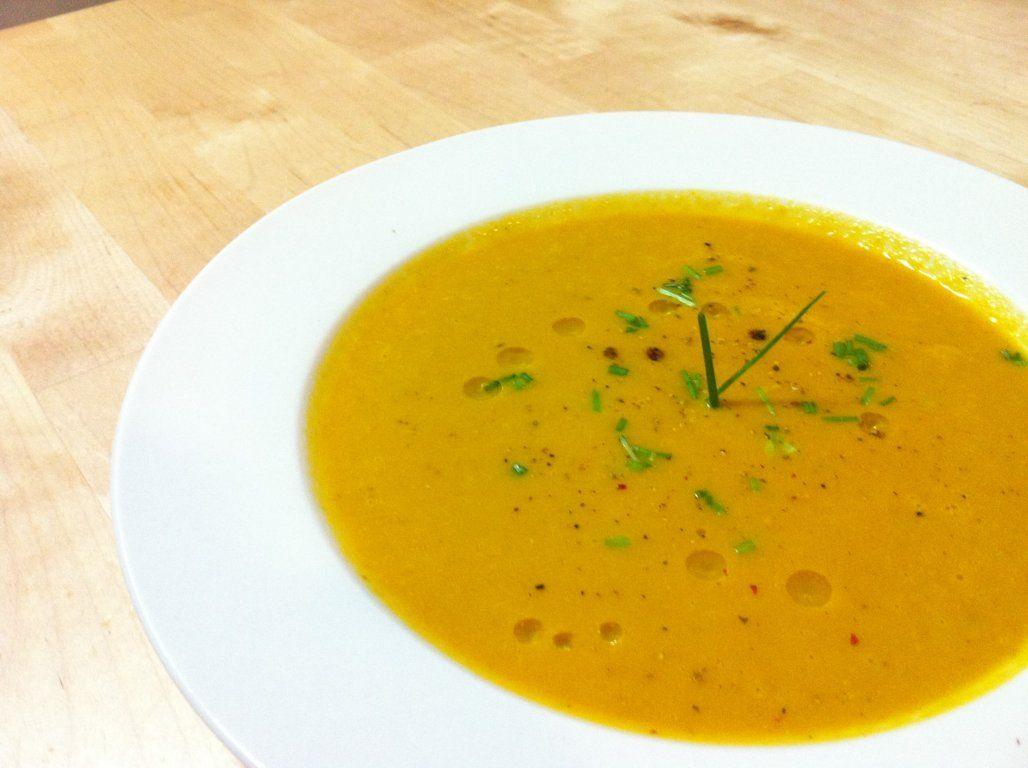 Crema de zanahoria con curry