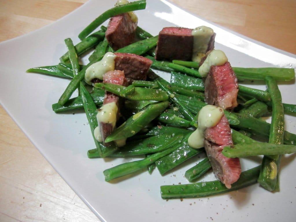Secreto ibérico con judías verdes al wok 1