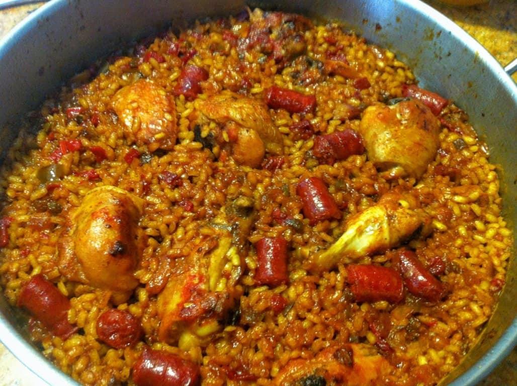 arroz con pollo y chistorra
